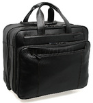 "Samsonite Savio 16"" Laptop Leather Wheel Bag Black 57007"