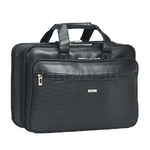 "Solo Classic Smart Strap 16"" Laptop Briefcase Black GB300"