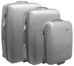Qantas Spectre Hardside Suitcase Set of 3 Silver 90855, 90868, 90875 with FREE GO Travel Luggage Scale G2008
