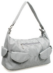 Travelon Classic Anti-Theft Pocket Hobo Bag Pewter 42347