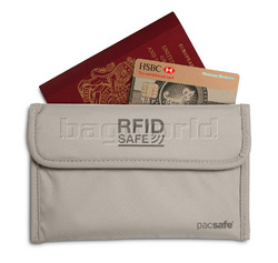 Pacsafe RFIDsafe 50 RFID Passport Protector Grey PE300 - Clearance 2015 Model