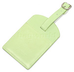 Artex Bon Voyage Leather Luggage Tag Green 40816