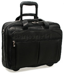 "Solo Classic 15.6"" Laptop Rolling Leather Case Black D529"