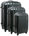 American Tourister Prismo Hardside Suitcase Set of 3 Charcoal 41001, 41002, 41003 with FREE Samsonite Luggage Scale 34042