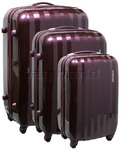 American Tourister Prismo Hardside Suitcase Set of 3 Purple 41001, 41002, 41003 with FREE Samsonite Luggage Scale 34042
