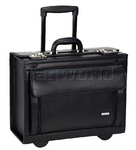 "Solo Classic 16"" Laptop Rolling Catalogue Case Black D978"