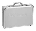 "Solo Classic 17"" Laptop Aluminum Attache Silver AC100"