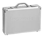 """Solo Classic 17"""" Laptop Aluminium Attache Silver AC100"""