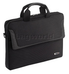 "Solo Sterling 14.1"" Laptop Slim Briefcase Black LA112"