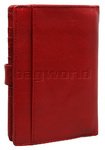 Cellini Ladies' Tuscany Large Book Leather Wallet Red TA074 - 1