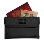 Pacsafe RFIDsafe 50 RFID Passport Protector Black PE300 - Clearance 2015 Model
