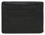 Vault Men's Fullgrain RFID Blocking Slide In Leather Credit Card Holder Black M017 - 1