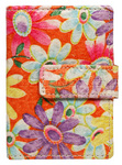Vault Ladies' PU RFID Blocking Tabbed Credit Card Holder Floral W1015