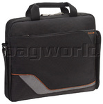 "Solo Vector 14.1"" Laptop Slim Briefcase Black TR122"