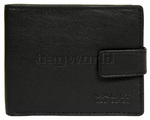 Vault Men's Fullgrain Cowhide RFID Blocking Top Flap & Tab Leather Wallet Black M0023