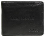 Vault Men's Fullgrain Cowhide RFID Blocking Top Flap Leather Wallet Black M003