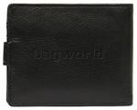 Vault Men's Fullgrain RFID Blocking Top Flap & Coin Pocket Leather Wallet Black M010 - 1