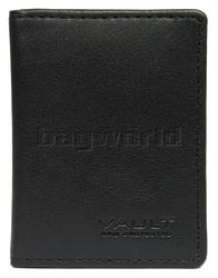 Vault Ladies' Fullgrain RFID Blocking Slimline Leather Credit Card Holder Black W013