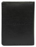 Vault Ladies' Fullgrain RFID Blocking Slimline Leather Credit Card Holder Black W013 - 1
