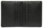 Vault Ladies' Fullgrain RFID Blocking Slimline Leather Credit Card Holder Black W013 - 2