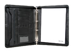Artex Long Range Planner A4 Leather Ziparound Compendium with Binder plus Handle Black 40309