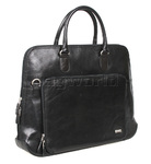 "Artex Riva Ladies 15"" Laptop Leather Briefcase Black 43113"