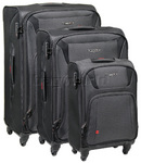 Antler Airstream Suitcase Set of 3 Grey 30619, 30616, 30615 with FREE GO Travel Luggage Scale G2008