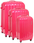 American Tourister Prismo Hardside Suitcase Set of 3 Magenta 41001, 41002, 41003 with FREE Samsonite Luggage Scale 34042