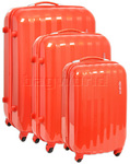 American Tourister Prismo Hardside Suitcase Set of 3 Orange 41001, 41002, 41003 with FREE Samsonite Luggage Scale 34042