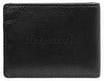 Vault Men's Fullgrain Cowhide RFID Blocking Micro Leather Wallet Black M001 - 1