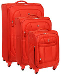 Wenger Neo Lite Softside Suitcase Set of 3 Orange 7208C, 7208B, 7208A with FREE Titan Luggage Scale S2014