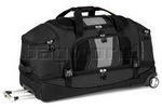 High Sierra Evolution 87cm Drop-Bottom Wheeled Duffel Black EV204