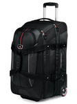 High Sierra AT6 66cm Expandable Wheeled Duffel with Backpack Straps Black AT658