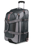 High Sierra AT6 66cm Expandable Wheeled Duffel with Backpack Straps Grey AT658