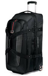 High Sierra AT6 81cm Expandable Wheeled Duffel with Backpack Straps Black AT659