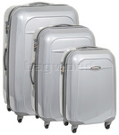 Qantas Dallas Hardside Suitcase Set of 3 Silver 15022, 15023, 15026 with FREE GO Travel Luggage Scale G2007