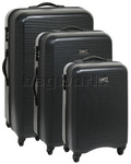 Antler Drivelite Hardside Suitcase Set of 3 Black 24026, 24023, 24022 with FREE GO Travel Luggage Scale G2008