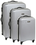 Antler Drivelite Hardside Suitcase Set of 3 Silver 24026, 24023, 24022 with FREE GO Travel Luggage Scale G2008
