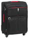 Qantas Narita Medium 66cm Softside Suitcase Black 32016