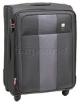 Qantas Dubai Medium 66cm Softside Suitcase Charcoal 23016