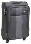Qantas Dubai Small/Cabin 56cm Softside Suitcase Charcoal 23019