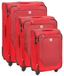 Qantas Shanghai Softside Suitcase Set of 3 Red 07019, 07016, 07015 with FREE GO Travel Luggage Scale G2007