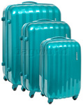American Tourister Prismo Hardside Suitcase Set of 3 Turquoise 41001, 41002, 41003 with FREE Samsonite Luggage Scale 34042
