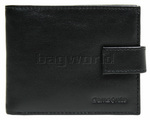Samsonite RFID Blocking Leather Wallet with Flap and Coin Pocket Black 50903
