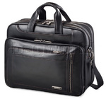 "Samsonite Savio Leather II 16"" Laptop Briefcase Black 59003"