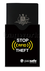 Pacsafe RFIDsleeve 50 RFID-Blocking Passport Protector Black 10370