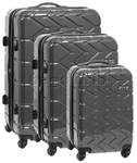 Jeep Adventure Hardside Suitcase Set of 3 Charcoal 5200C, 5200B, 5200A with FREE Travelon Luggage Scale 12636