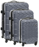 Jeep Adventure Hardside Suitcase Set of 3 Pewter 5200C, 5200B, 5200A with FREE Travelon Luggage Scale 12636