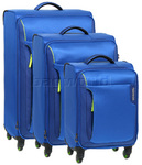 American Tourister Applite Softside Suitcase Set of 3 Blue 2R001, 2R002, 2R003 with FREE Samsonite Luggage Scale 34042