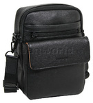 Cellini Durban Leather Shoulder Bag Black EX334